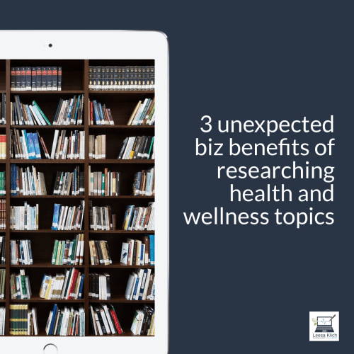 Why research topics in health and wellness?