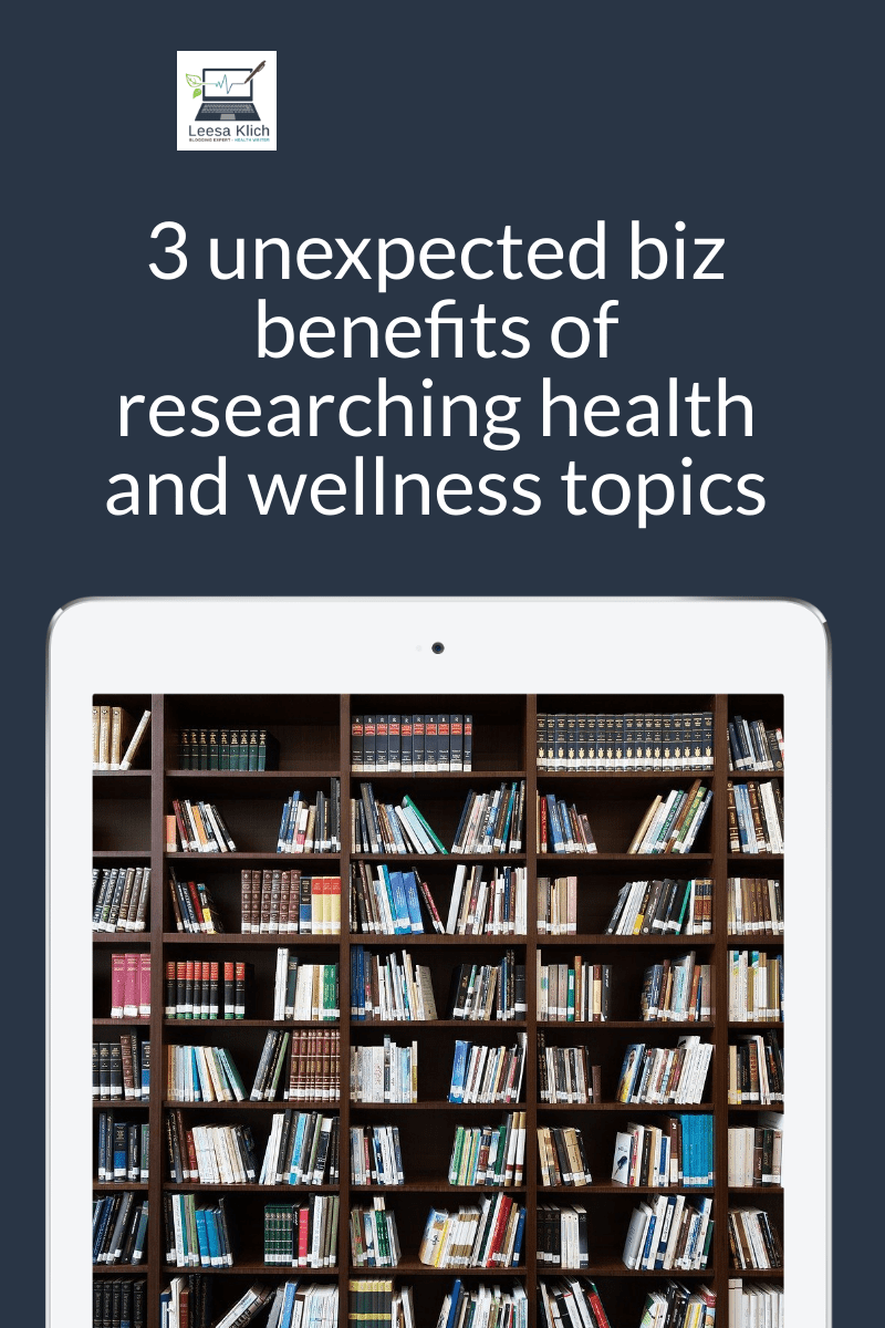 Health and wellness pros: Did you know of these 3 biz-building benefits of quoting credible research? | #Health #Wellness #Research