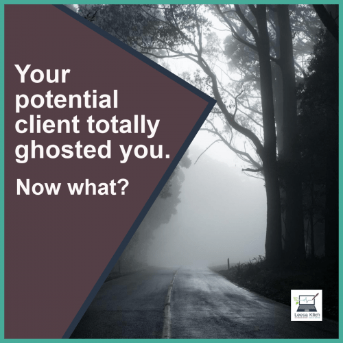 So your prospect totally ghosted you. Now what?