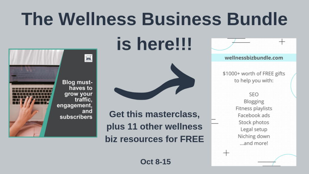 Wellness Biz Bundle blog must-haves