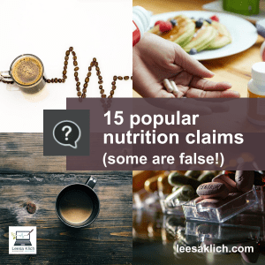 nutrition claims - coffee? multivitamins?
