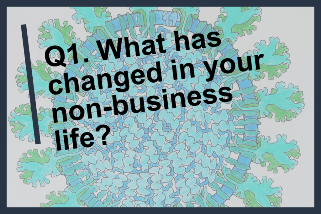 Q1 What has changed in your non-business life