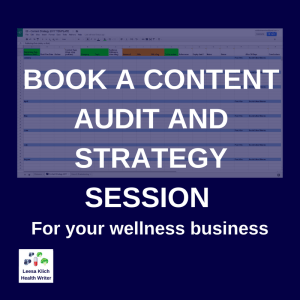 content audit strategy session