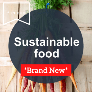 pre-written done-for-you article on sustainable food with carrots