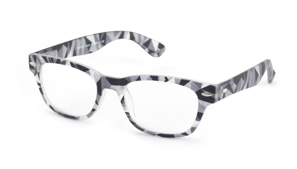 Leesbril INY Woody Crazy G20400 zwart/grijs