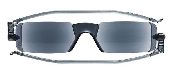 Leesbril Nannini compact opvouwbaar zonneleesbril zwart