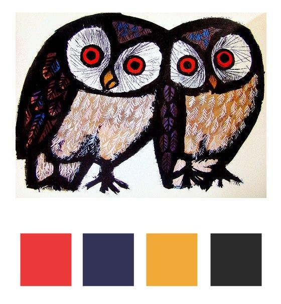 owls color palette