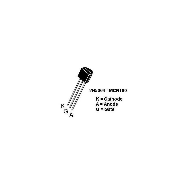SCR 2N5064 200V 0.8A SENSITIVE GATE 2 PCS/PKG
