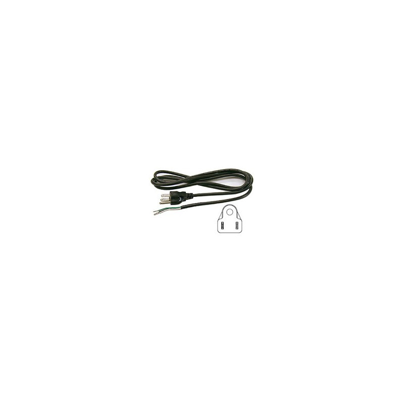 POWER CORD 3-LINE OPEN END 6FT 138-306