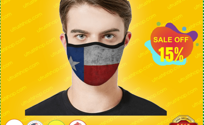 Texas Flag Cloth Face Mask