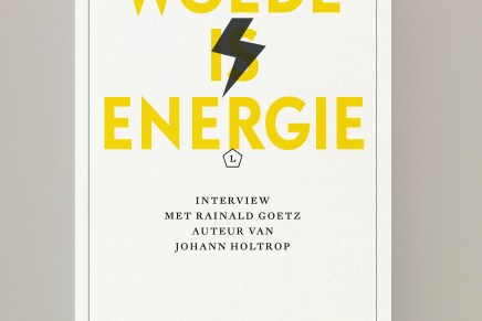 Moritz von Uslar, Ijoma Mangold – Woede is energie (interview met Rainald Goetz over oa Johann Holtrop)