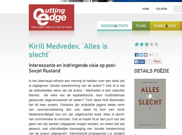 Kirill Medvedev Alles is slecht