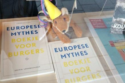 Ewald Engelen, Europese Mythes in etalage en 30 okt. in Boekhandel Het Martyrium, Amsterdam