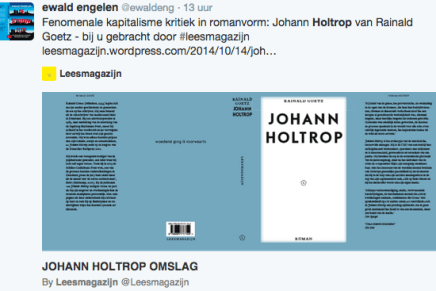 Fenomenale kapitalisme kritiek in romanvorm: Johann Holtrop van Rainald Goetz