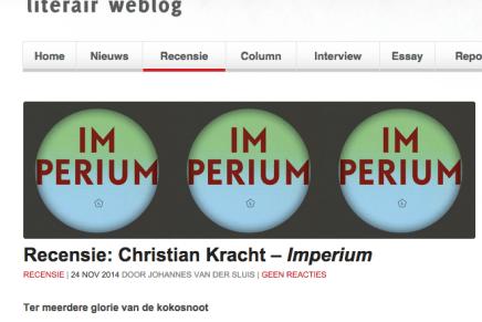 Tzum Recensie: Christian Kracht – Imperium door Johannes van der Sluis