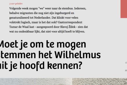 Moet je om te mogen stemmen het Wilhelmus uit je hoofd kennen?, Tamar de Waal, De Correspondent