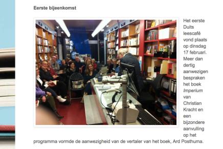 Ard Posthuma in Boekhandel Godert Walter Groningen over Imperium van Christian Kracht