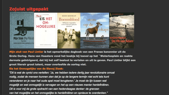 Eis het onmogelijke, van Slavoj Zizek bij Boekhandel Schimmelpennink, Weteringschans 177, Amsterdam