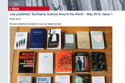 Nederlandse Uitgave Gekochte Tijd van Wolfgang Streeck door Suhrkamp in Just published: Suhrkamp Authors Around the World – May 2015, Issue 1 06.05.2015