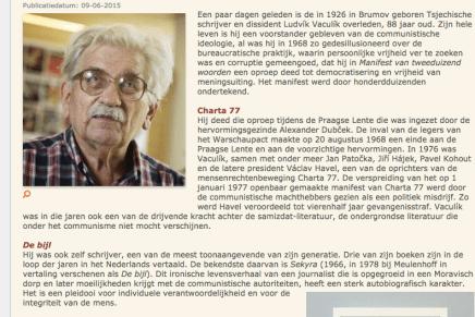 'Auteur van De bijl en Cavia's op proef overleden', Literatuurplein, Jef van Gool