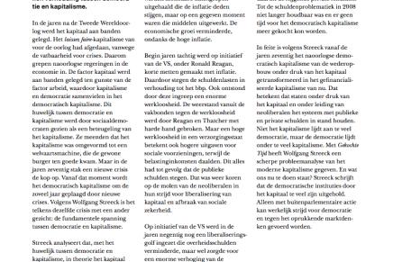 FUNDAMENTELE SPANNING TUSSEN KAPITALISME EN DEMOCRATIE, in Spanning, April 2015, Eduard van Scheltinga