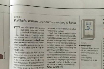 Poëtische roman over niet weten hoe te leven, Peter Swanborn, Volkskrant 3 oktober 2015