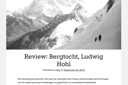 Bergtocht, Ludwig Hohl, Nils Geylen September 26, 2015