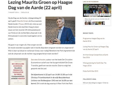 Earthday, met Maurits Groen en Socrates Schouten