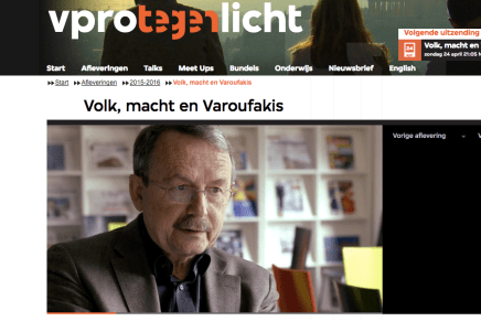 Wolfgang Streeck in VPRO Tegenlicht 24 april 21.00
