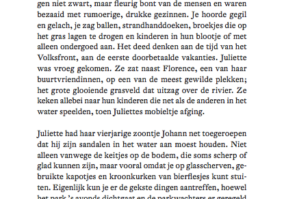Het was donderdag 29 mei 2003, aan het eind van de middag. Hemelvaartsdag. 1e opmaak, Tussenbeide, Nelly Alard.