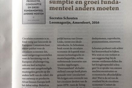 Recensie De Circulaire Economie, Bart Martens, Sampol 2016/8, p.85-85