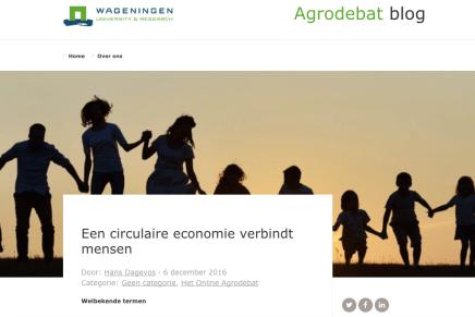Een circulaire economie verbindt mensen, Hans Dagevos, Wageningen University Research, 6 december 2016
