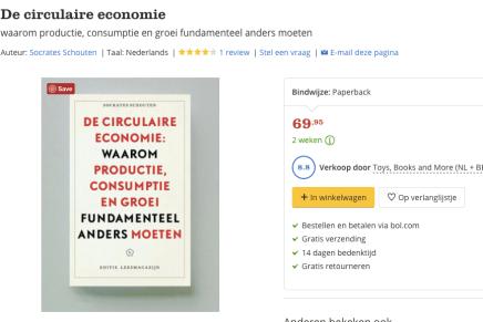 Recordprijs bij BOL voor Circulaire Economie, Socrates Schouten