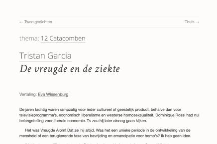 Tristan Garcia, De vreugde en de ziekte , vertaling: Eva Wissenburg, Terras