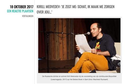 KIRILL MEDVEDEV: 'JE ZEGT ME: SCHAT, IK MAAK ME ZORGEN OVER JOU…'