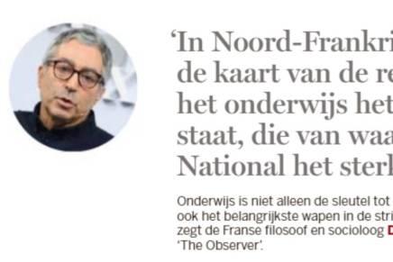 Quote Didier Eribon, De Standaard der Letteren