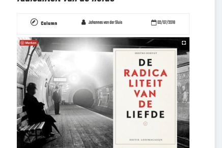 Srećko Horvat – De radicaliteit van de liefde, Johannes van der Sluis, Tzum, 2 Juli 2018