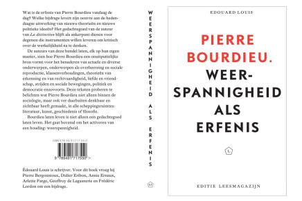 Édouard Louis: Pierre Bourdieu: Weerspannigheid als erfenis, verschijnt september 2018, voorbestelling geopend.