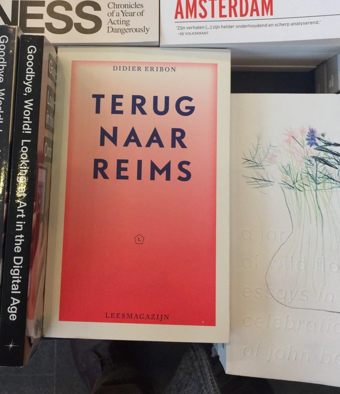 bookstore Stedelijk Museum Amsterdam - Terug naar Reims Didier Eribon