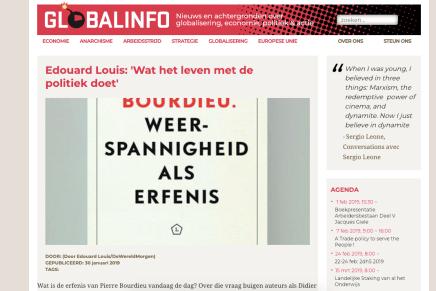 Edouard Louis: 'Wat het leven met de politiek doet', Globalinfo.nl