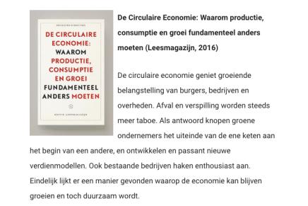 De Circulaire Economie: Waarom productie, consumptie en groei fundamenteel anders moeten, Socrates Schouten