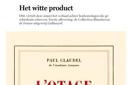 Het witte product, De Standaard, Peter Jacobs, 28 juni, 2019