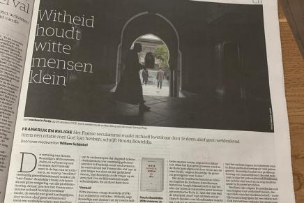 Witheid houdt witte mensen klein, Willem Schinkel,  NRC Handelsblad, 20 november 2020