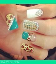 cute acrylic nail design lee