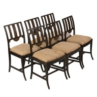 Sweden circa 1820 set of 6 painted dining chairs (AZ140)