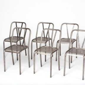 France circa 1950 set of 6 wire industrial chairs (BB38)