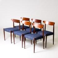 Belgium circa 1950 set of midcentury dining chairs (BA199)