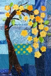 "yellow blossom tree 9x12"""