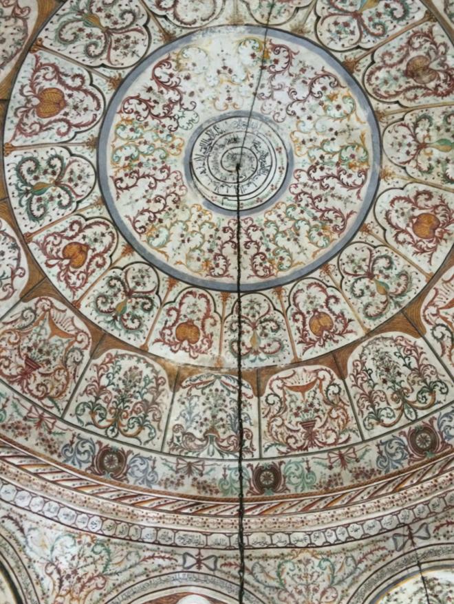 albanien-tirana-moschee-deckenmalerei