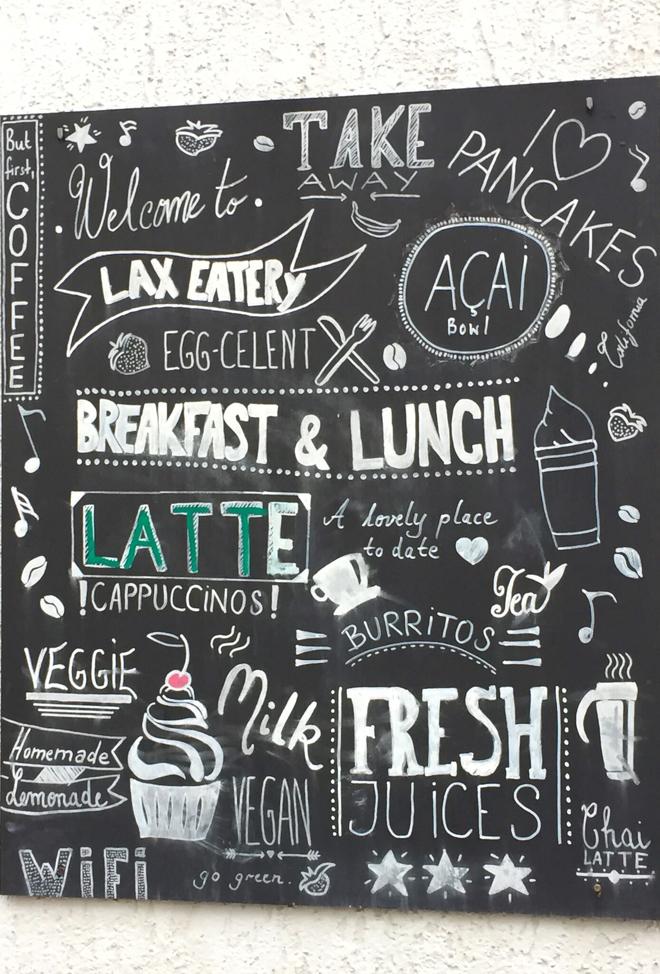 Lax Eatery München Maxvorstadt Tafel